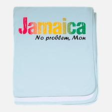 Jamaica No Problem tri baby blanket