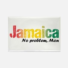 Jamaica No Problem Tri Rectangle Magnet Magnets