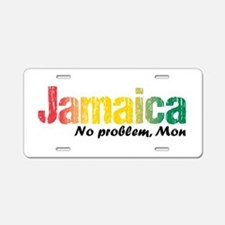 Jamaica No Problem tri Aluminum License Plate