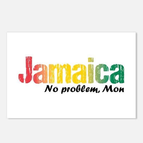 Jamaica No Problem tri Postcards (Package of 8)