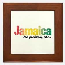 Jamaica No Problem Tri Framed Tile