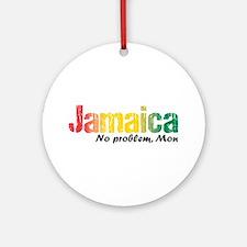Jamaica No Problem Tri Ornament (round)