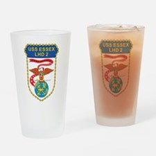 USS Essex LHD-2 Drinking Glass