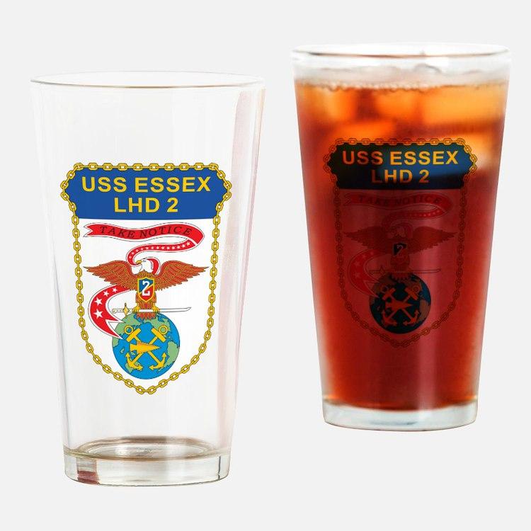 USS Essex LHD-2 Drinking Glass