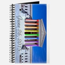 Funny Leather pride colors Journal