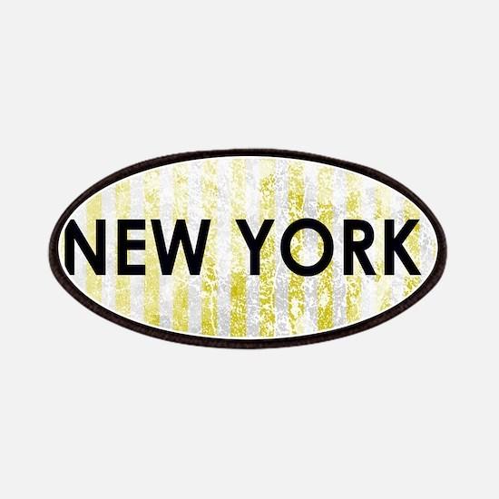 New York Stone Yellow Pin Stripes Patch