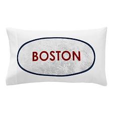 Boston Red Gray Stone Pillow Case