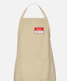 Personalized Hello Name Tag Apron