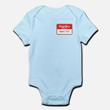 Personalized Hello Name Tag Infant Bodysuit