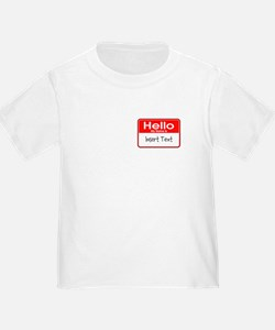 Personalized Hello Name Tag T
