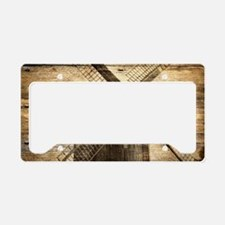 barnwood western country wind License Plate Holder