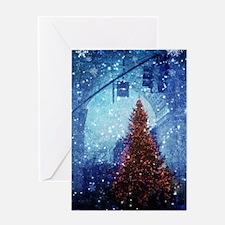 Paris christmas snow Greeting Cards