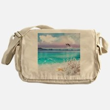 Beach and Ocean  Dancing Dolphins Messenger Bag
