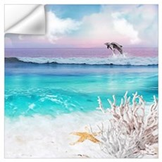 Beach and Ocean  Dancing Dolphins Wall Decal