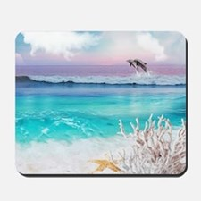 Beach and Ocean  Dancing Dolphins Mousepad