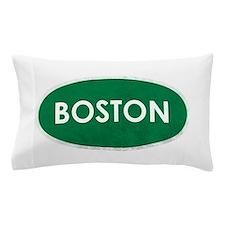 Boston White Green Stone Pillow Case