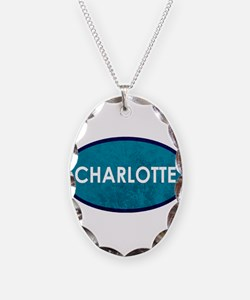 Charlotte Teal Blue Stone Necklace