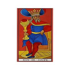 Roy de Coupe Tarot Card Magnet
