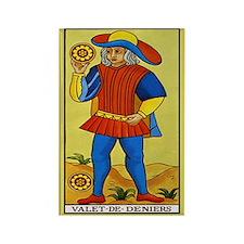 Valet de Deniers Tarot Card Magnet