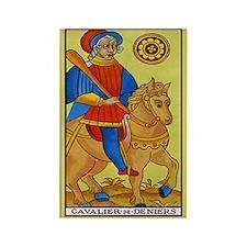 Cavalier de Deniers Tarot Card Magnet