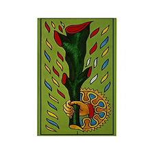 Le Baton Tarot Card Magnet