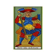 Roy de Baton Tarot Card Magnet