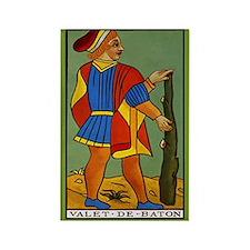 Valet de Baton Tarot Card Magnet