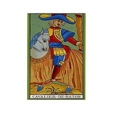 Cavalier de Baton Tarot Card Magnet