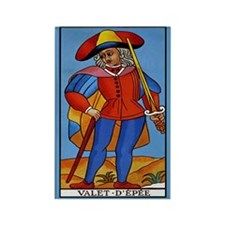 Valet D'Epee Tarot Card Magnet