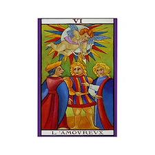 6. L'Amovrevx (Lovers) Tarot Card Magnet