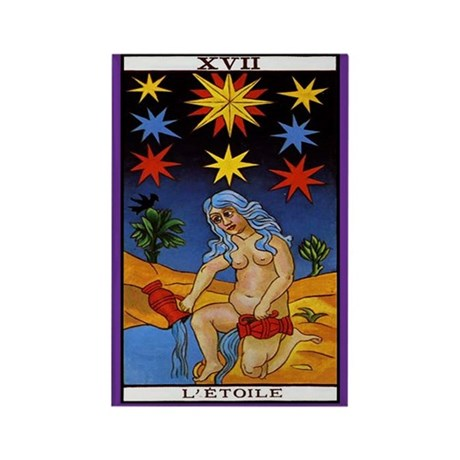 17 l 39 etoile star tarot card magnet by thebesttees. Black Bedroom Furniture Sets. Home Design Ideas