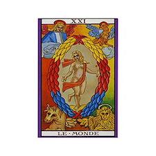 21. Le Monde (The World) Tarot Card Magnet