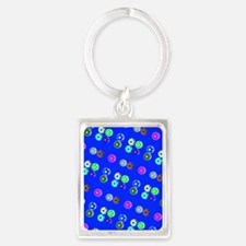 Blue Hello Soccer Football Fiesta Keychains