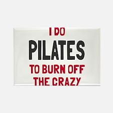 I do pilates to burn crazy Rectangle Magnet