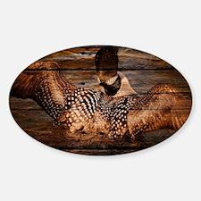 barn wood wild loon Decal