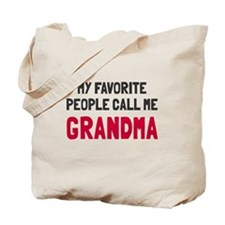 Favorite People Grandma Tote Bag