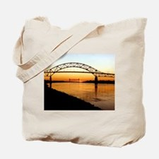Cape Cod Bourne Bridge Tote Bag