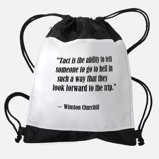 tact:Winston Churchhill Drawstring Bag