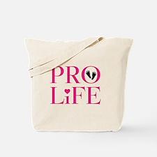 Pro Life Pink Tote Bag