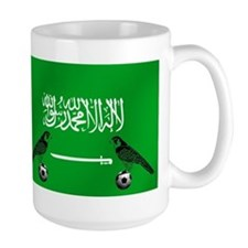 Saudi Arabia Football Flag Mug