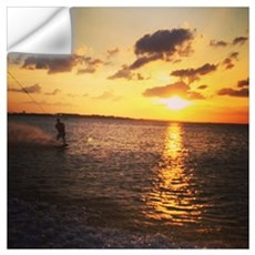 Wakeboarding in Sunset Wall Decal