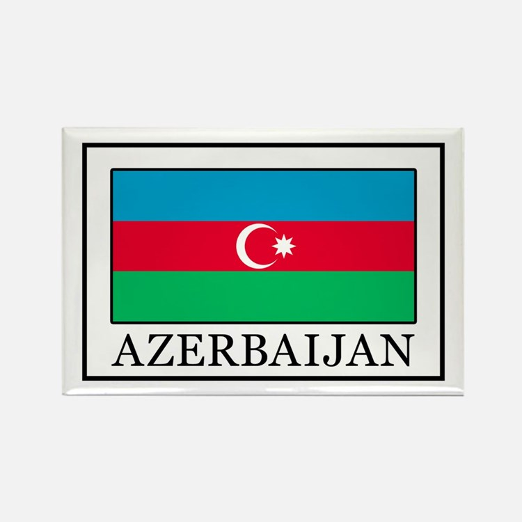 Azerbaijan Rectangle Magnet