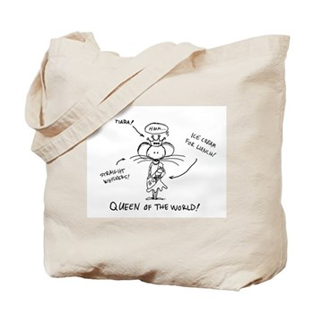 """""""Queen of the World"""" Babymouse Tote Bag"""