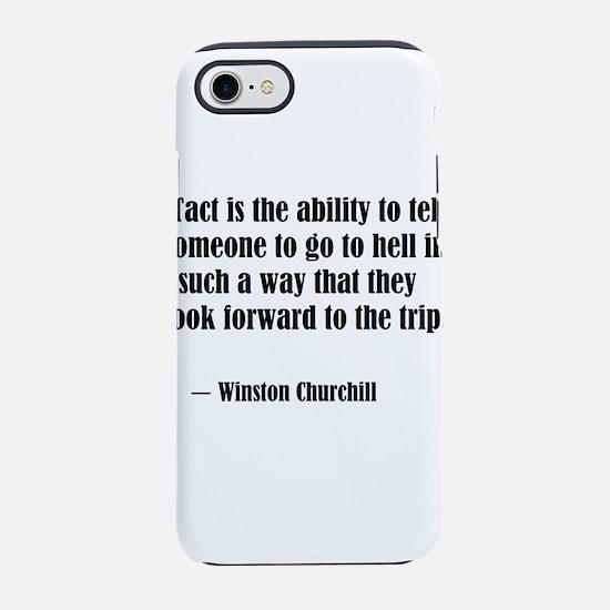tact:Winston Churchhill iPhone 8/7 Tough Case