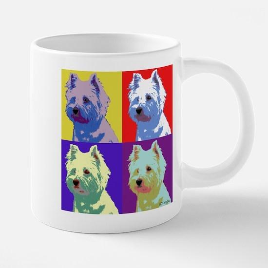 Westie a la Warhol! Mugs