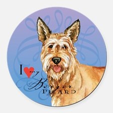 Berger Picard Round Car Magnet