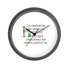 SENIOR MOMENTS - TRAIN OF THOUGHT LEAVE Wall Clock