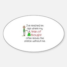 SENIOR MOMENTS - TRAIN OF THOUGHT L Decal