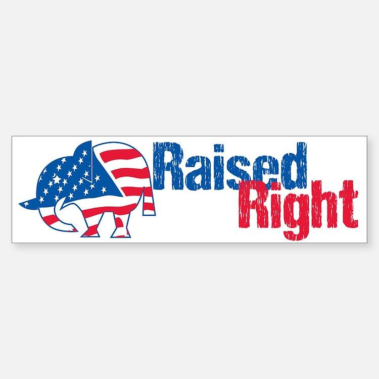 Raised Right Bumper Bumper Sticker