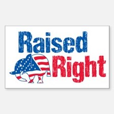 Raised Right Sticker (Rectangle)